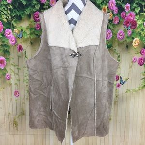 Liz & Me for Catherines Faux Leather Vest Size 2X